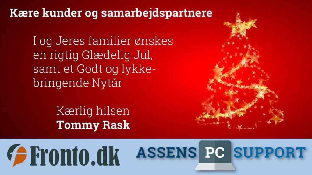 Rigtig Glædelig Jul, samt et Godt og lykkebringende Nytår til jer alle