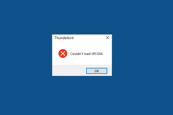 Thunderbird cannot load XPCOM