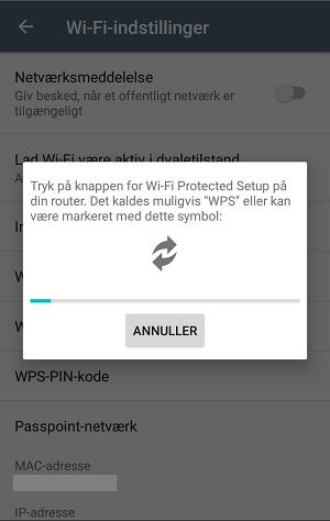 WPS forbindelse