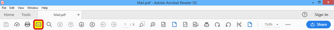 Adobe Reader Email