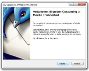 Installér Thunderbird