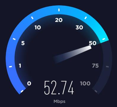 Hastighedstest på internettet