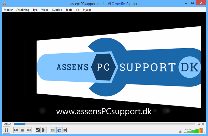 Assens PC supports præsentations video